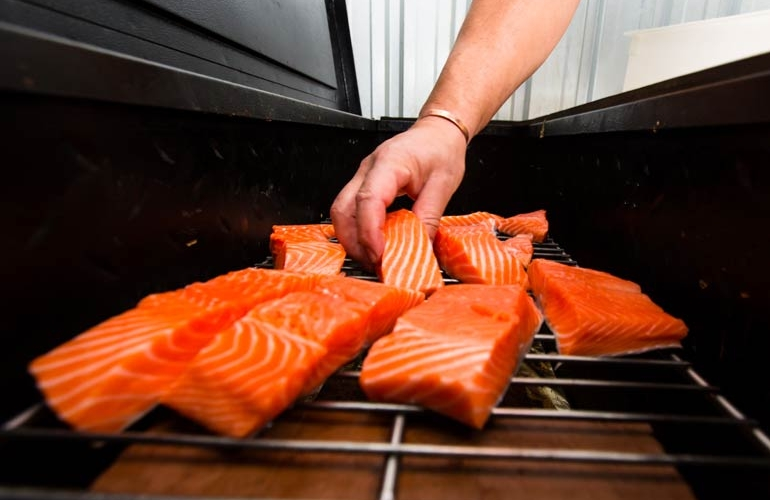 Setting Salmon on the Grill | Off The Track | Havelock North | Family Friendly Restaurant