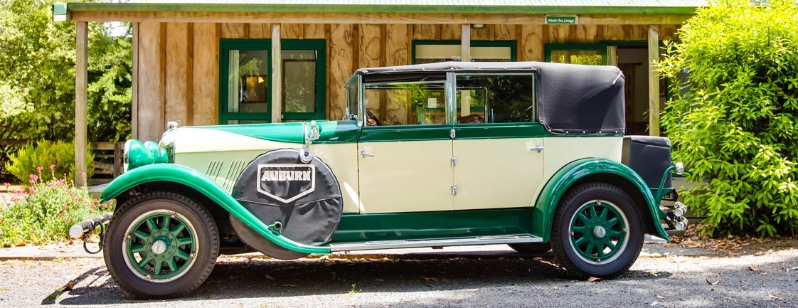 Classic Car | Off The Track's cottages | Private Havelock North Accommodation