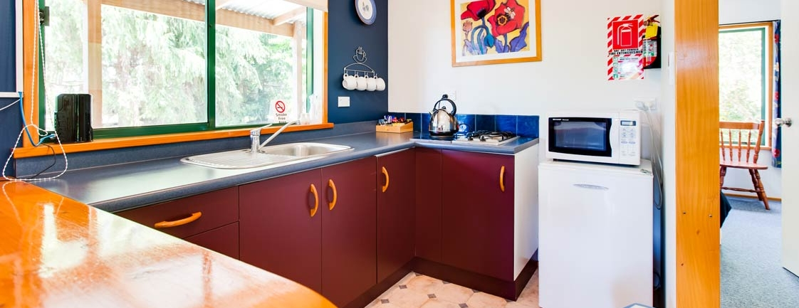 Kitchen view | Off The Track - Havelock North accommodation