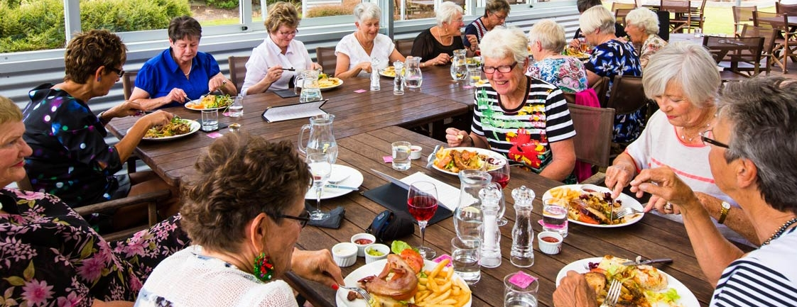 Guest Enjoying Their Meals | Off The Track Restaurant | Hawkes Bay