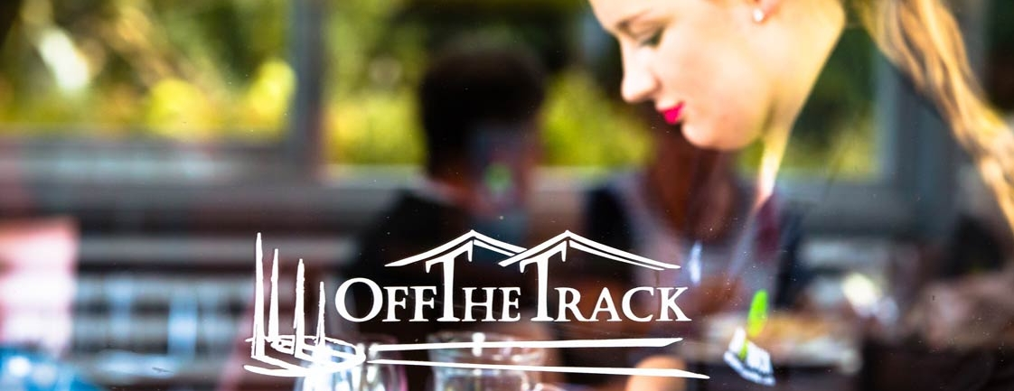 Window Logo Display | Off The Track Restaurant | Hawkes Bay