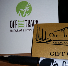 Gift Vouchers | Havelock North Restaurant | Off The Track